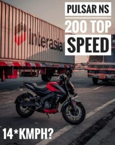 Pulsar NS 200 top Speed with Video