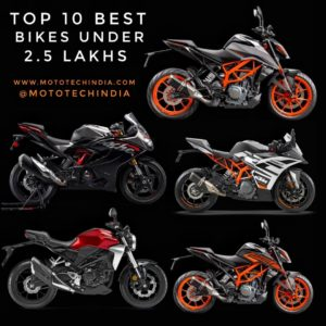 Top 10 Best Bikes Under 2.5 Lakhs In India