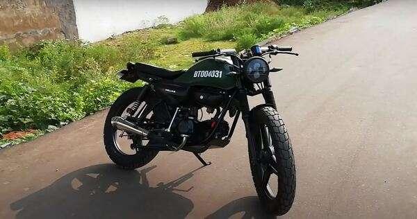 Hero HF Deluxe modified in to a retro bike